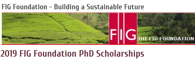 FIG Structure PhD Scholarships 2019 for Surveying/Geomatics PhD Prospects (4,00 0 euros grant)