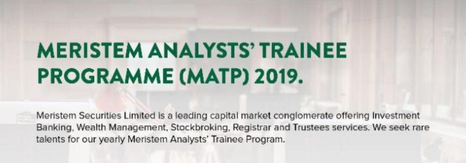 Meristem Experts' Student Program (MATP) 2019 for young Nigerians