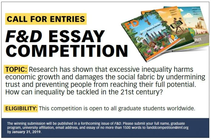 International Monetary Fund Financing & & Advancement Essay Competitors 2019
