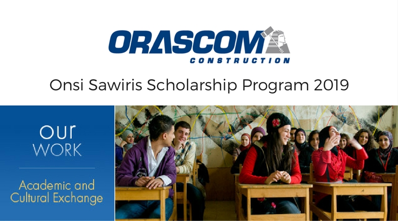 Orascom Building Onsi Sawiris Scholarship Program 2019/2020 for Egyptians to Research Study in U.S.A. (Totally Moneyed)