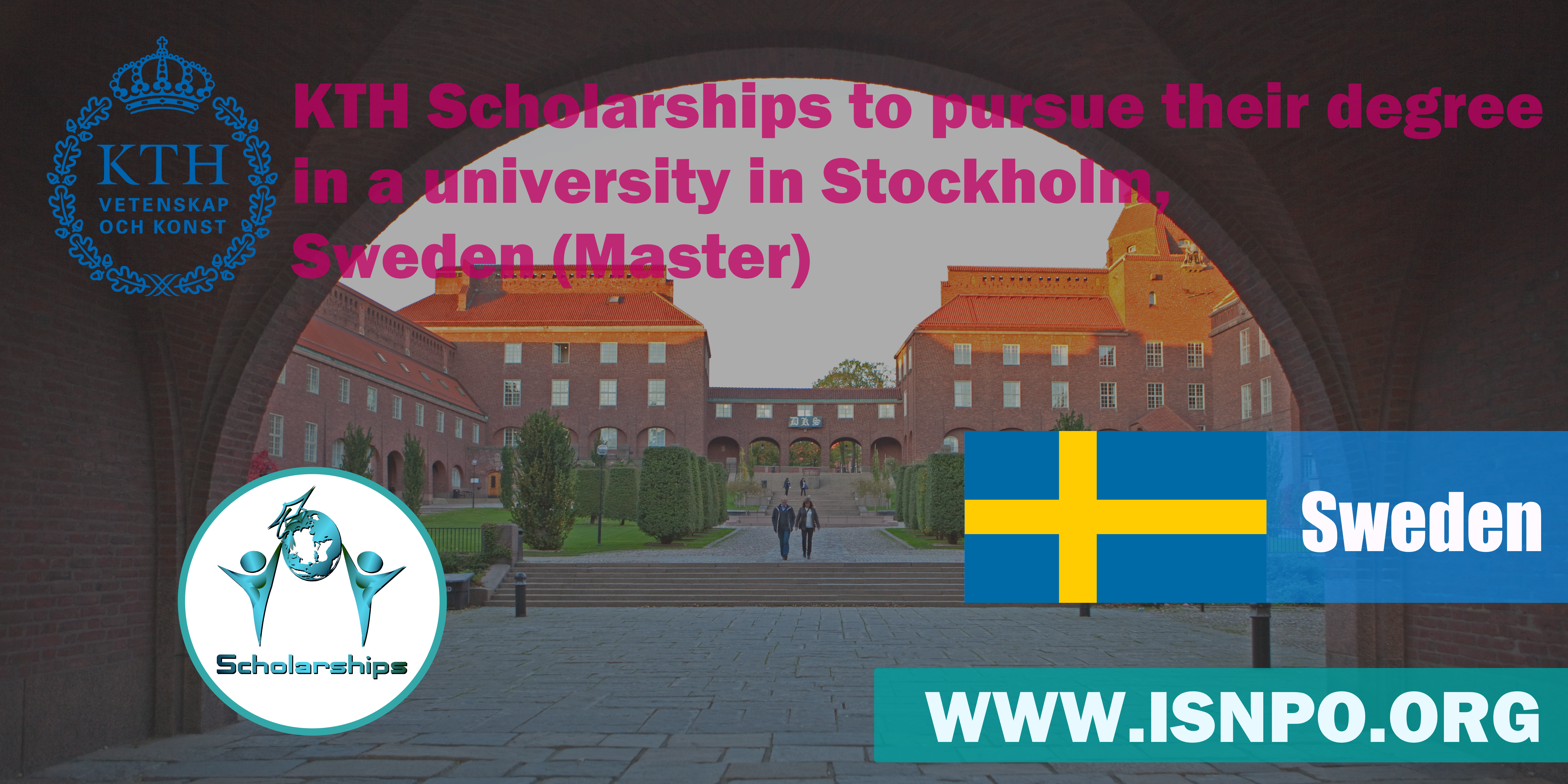 KTH Scholarships to pursue their degree in an university in Stockholm, Sweden