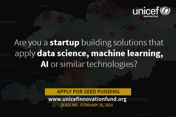 UNICEF Development Fund 2019 Require Data Science & & AI (As Much As $50-90 K equity-free financial investments)