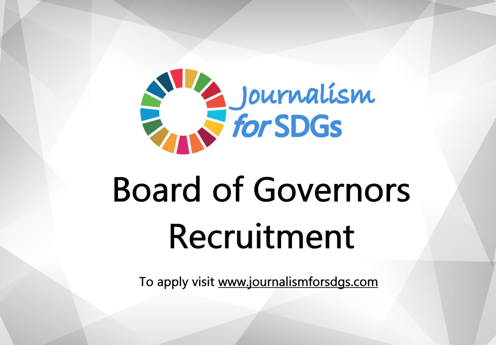 Require Applications: Journalism For SDGs Board of Governors 2019 (Completely Moneyed)