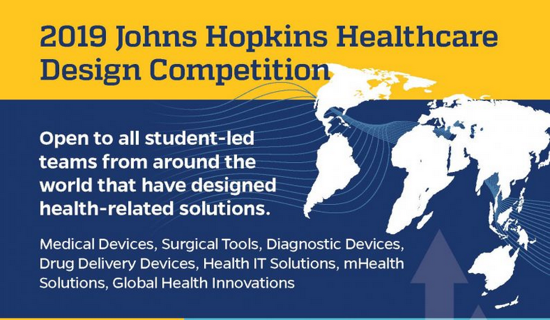 2019 Johns Hopkins Health Care Style Competitors for student-led groups