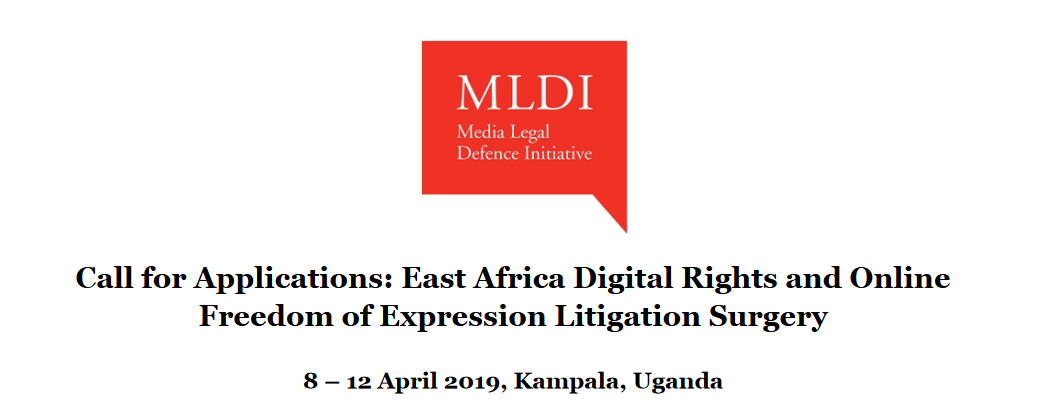 MLDI East Africa Digital Rights and Online Flexibility of Expression Lawsuits Surgical Treatment Workshop 2019 in Kampala, Uganda (Completely Moneyed)
