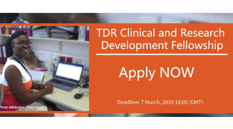 TDR Scientific and Research Study Advancement Fellowship 2019 (Fully-funded)