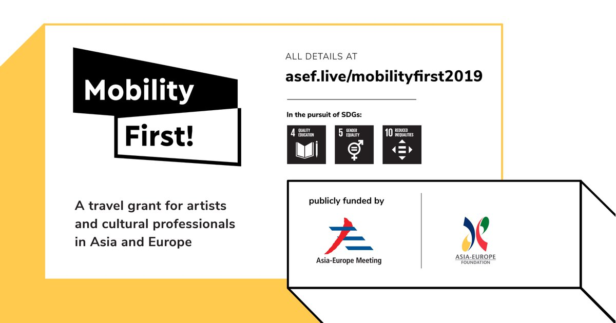 ASEF Movement First Travel Grant 2019 for Artists & & Cultural Professionals