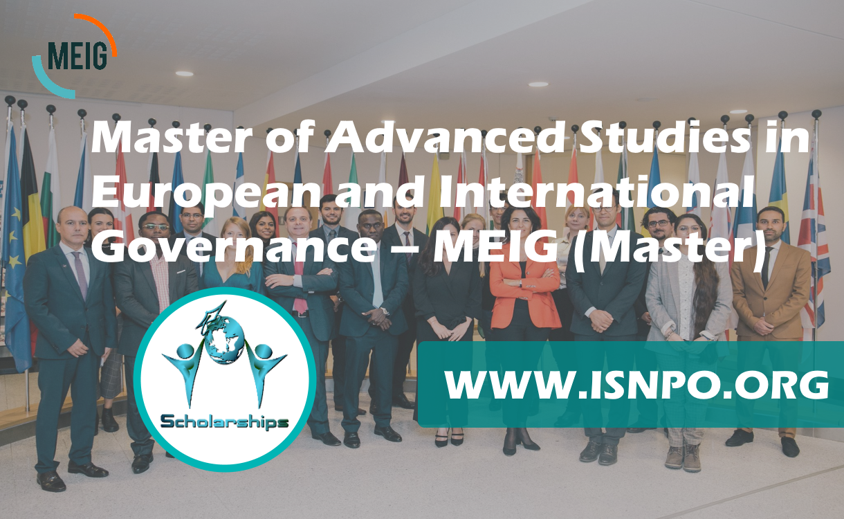 Master of Advanced Researches in European and International Governance– MEIG