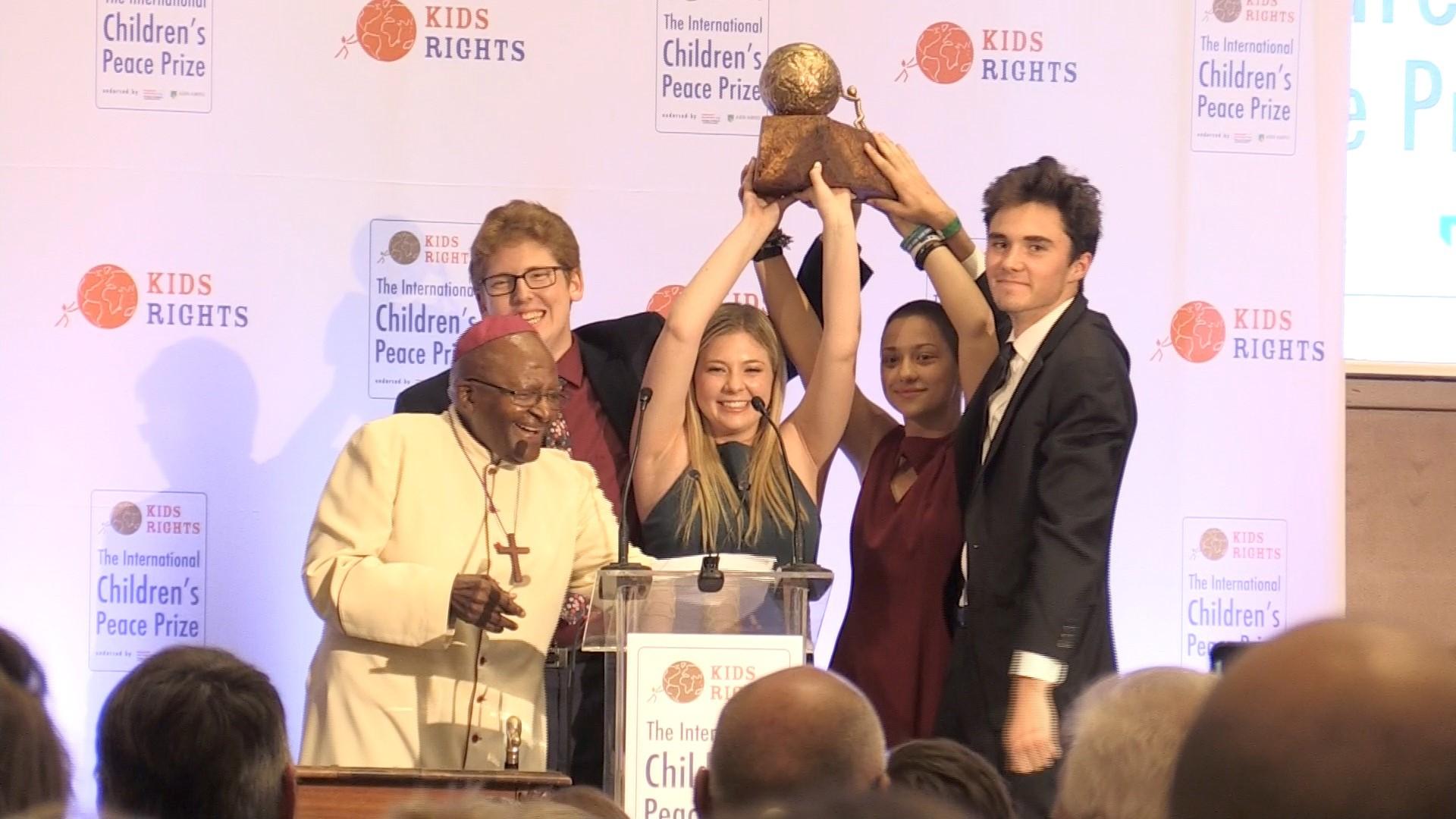 KidsRights International Kid's Peace Reward 2019 for People enhancing kids's rights.