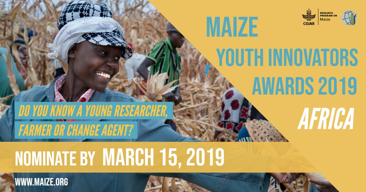 CGIAR MAIZE Youth Innovators Awards 2019- Africa for Scientist, Farmers or Modification Agents