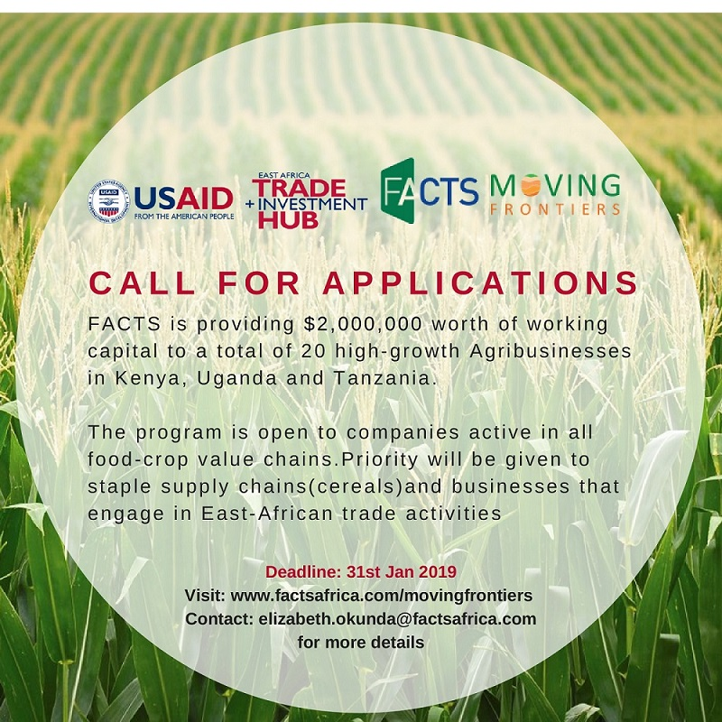 TRUTHS Moving Frontiers Program 2019 for Agro-businesses in East Africa