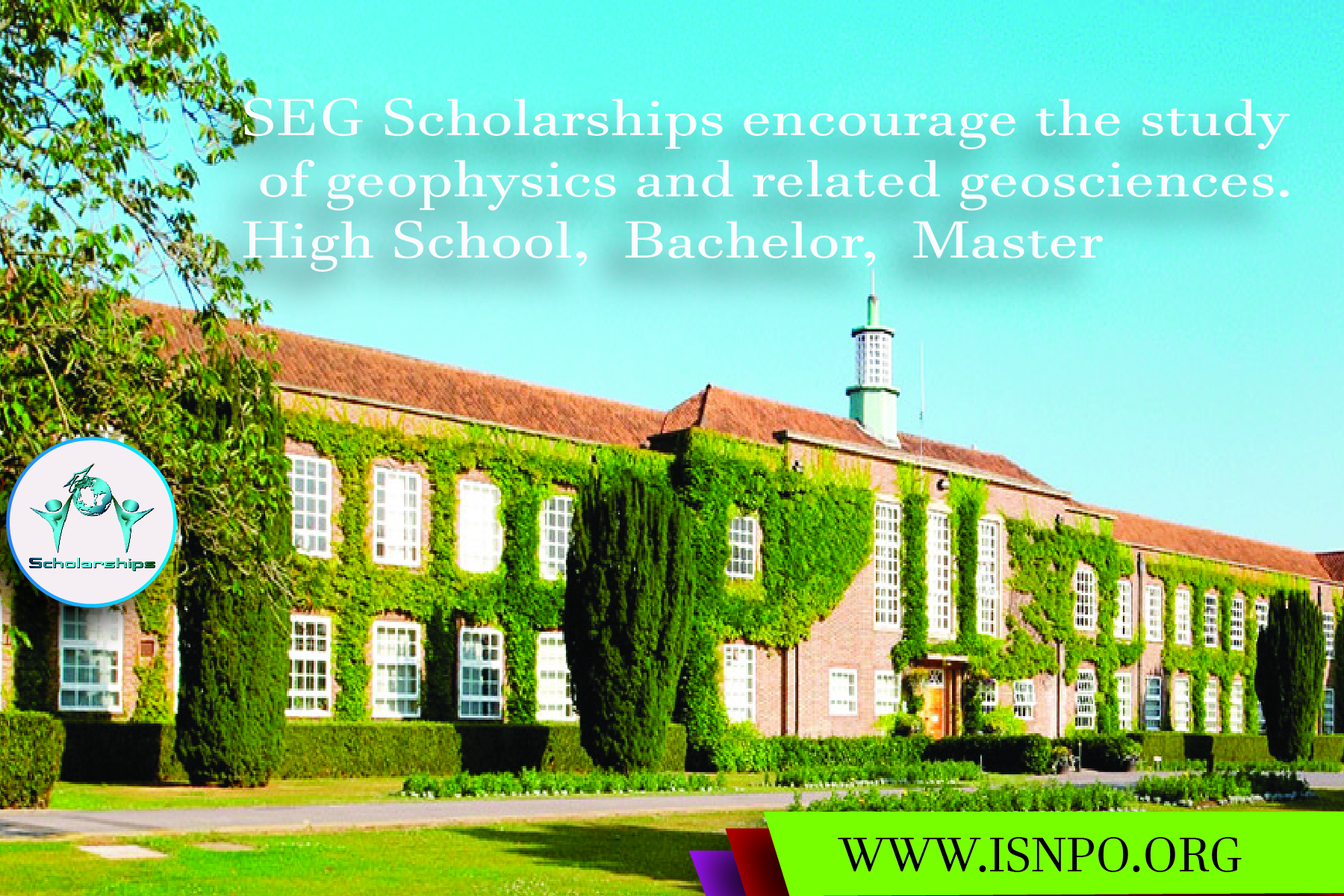 SEG Scholarships motivate the research study of geophysics and associated geosciences.