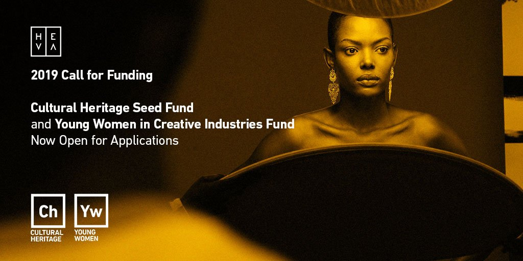HEVA Funds: The Cultural Heritage Fund & & The Young Women in Creative Business Fund!