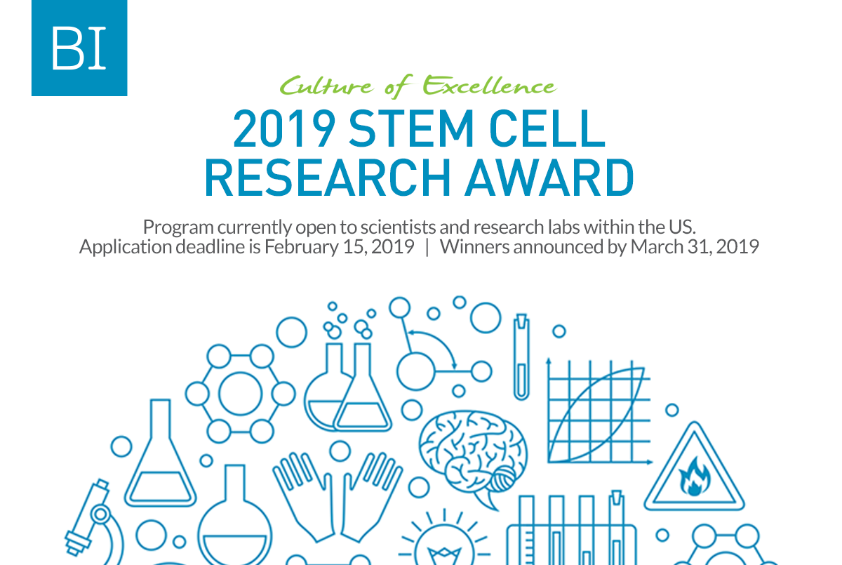 Biological Industries U.S.A. (BI-USA) Stem Cell Research Study Awards 2019 (as much as $15,000)