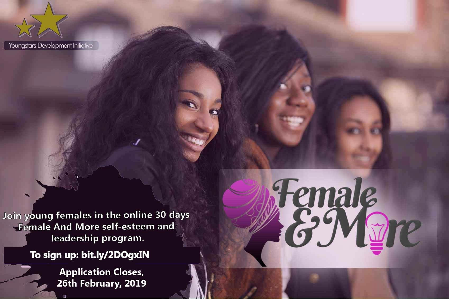 Female And More (FAM) Self-confidence and Management Program 2019 International Women's Day Edition