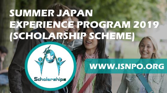 SUMMERTIME JAPAN EXPERIENCE PROGRAM 2019 (SCHOLARSHIP PLAN)