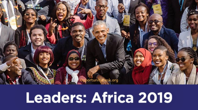 Request the Obama Structure Leaders: Africa Program 2019 (Fully-funded to Johannesburg, South Africa)