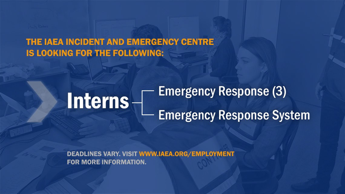 IAEA Occurrence and Emergency Situation Centre (IAEAIEC) Internship Program 2019 for young Experts