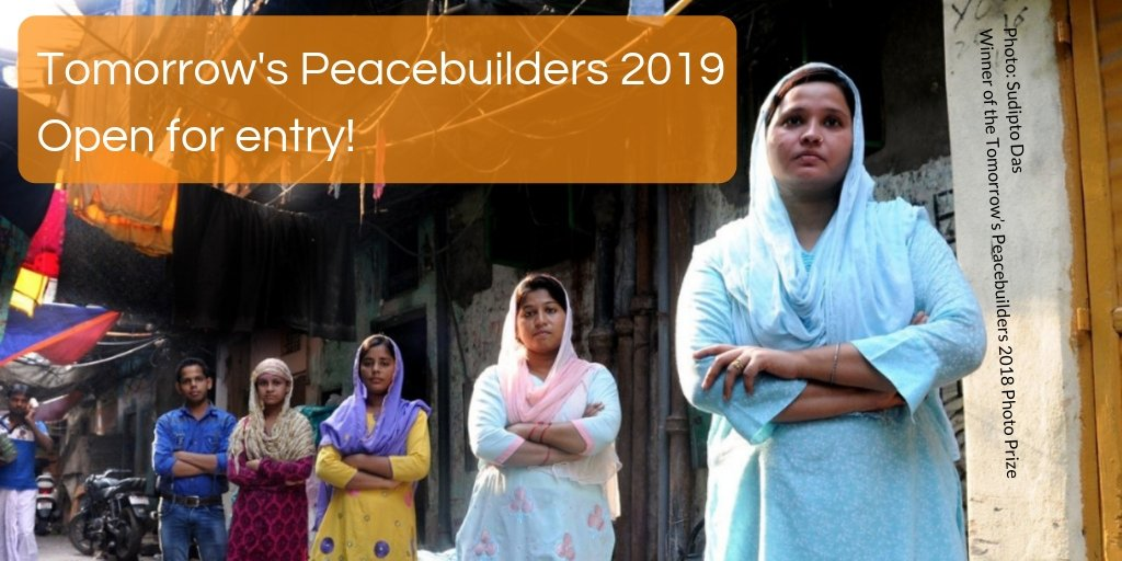 Tomorrow's Peacebuilders Awards 2019 for Peace Buliding Activities ($ USD 10,000 reward & & all-expenses paid journey to PeaceCon 2019 in Washington, DC)