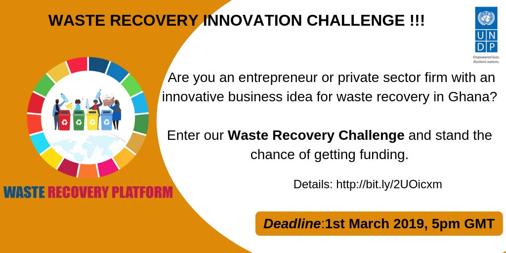 UNDP Ghana Waste Healing Development Obstacle 2019 (approximately $40,000)
