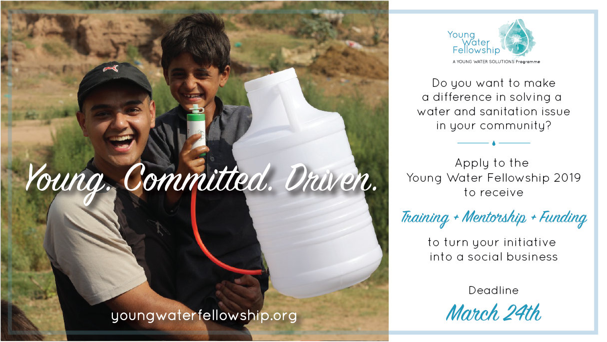 Young Water Fellowship Program 2019 for Young Leaders (Fully-funded)
