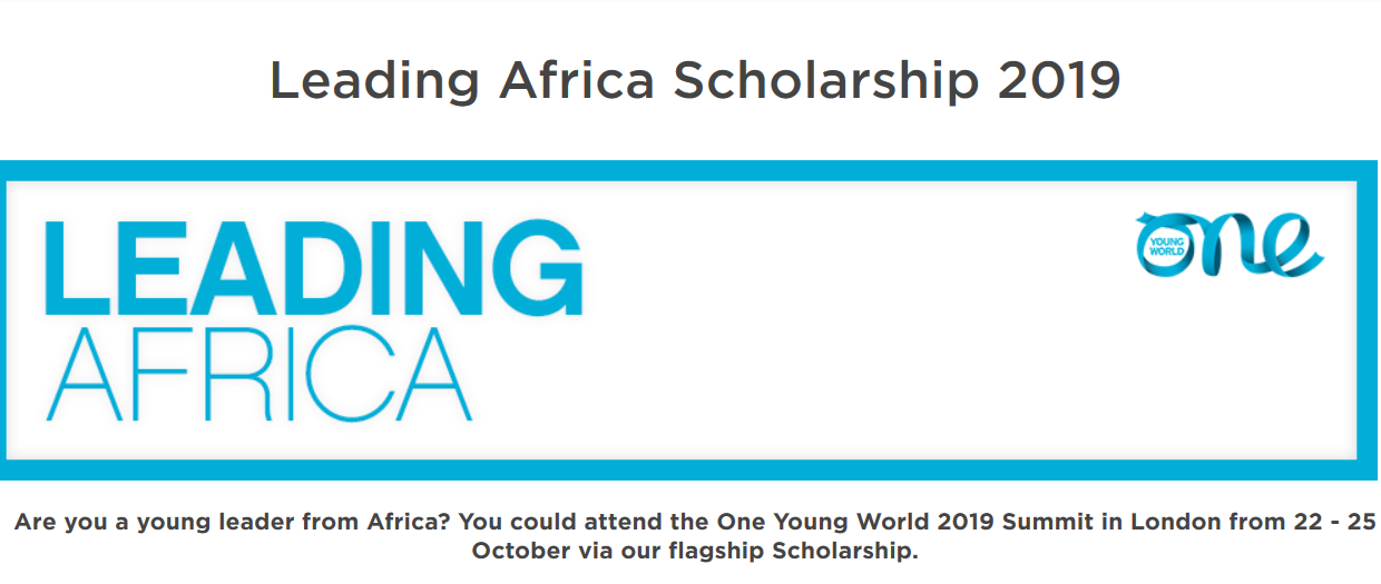 One Young World Leading Scholarships to participate in the OYW Top 2019 in London, the UK (Completely Moneyed)