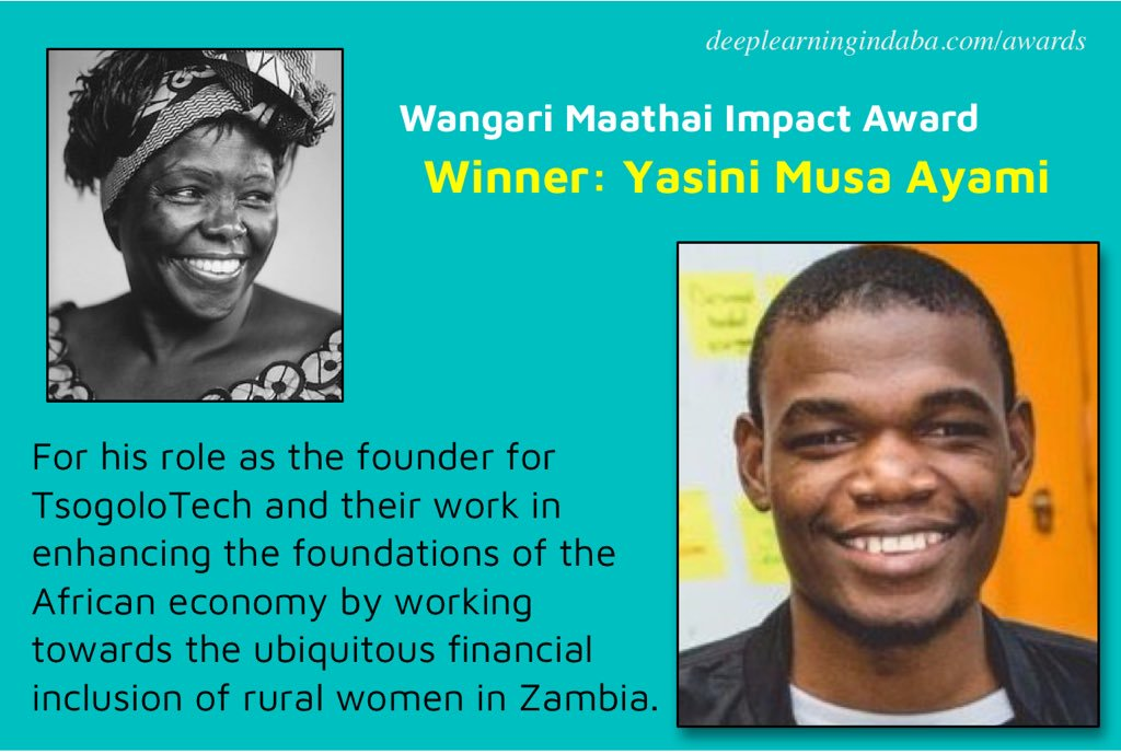 Wangari Maathai Effect Award 2019 for African Innovators (fully-sponsored journey to go to NeurIPS 2019 in Vancouver, Canada)