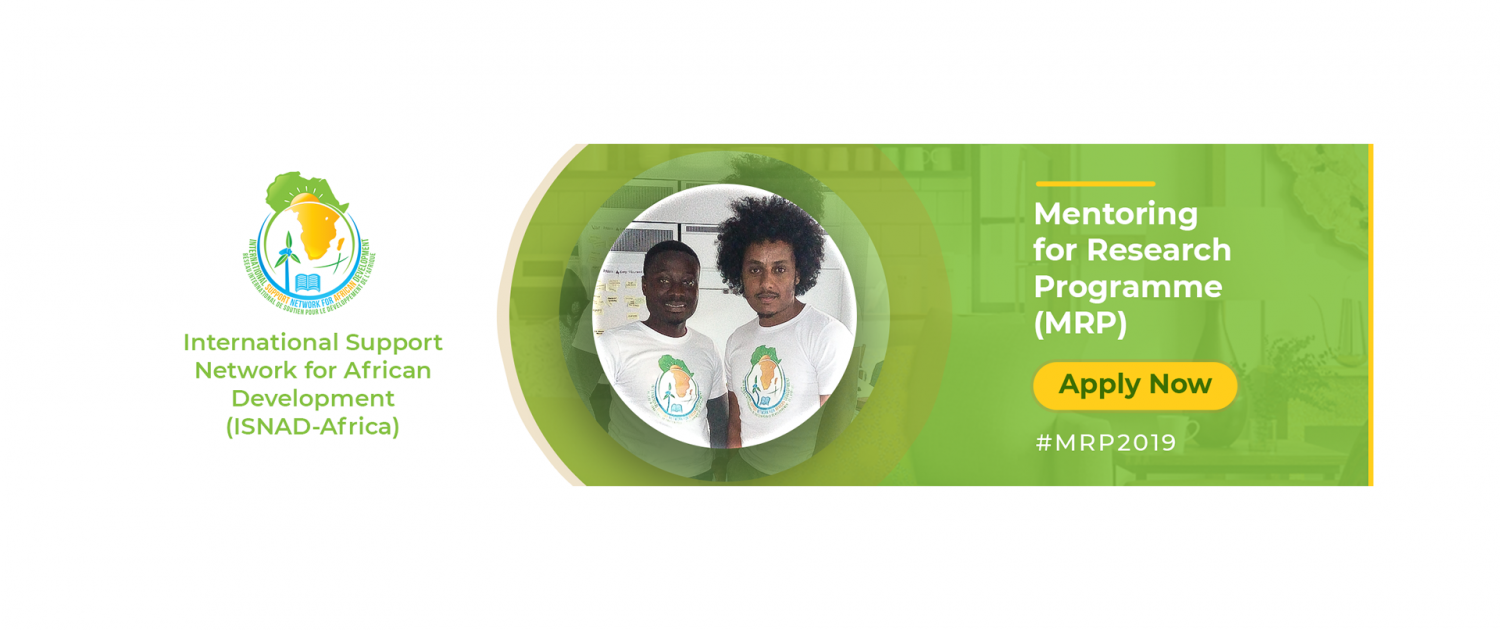 ISNAD-Africa Mentoring for Research Study Program (MRP) 2019
