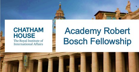 Chatham Home Academy Robert Bosch Fellowship 2019/2020 for young African Profressionals (₤ 2,295 Regular Monthly Stipend)