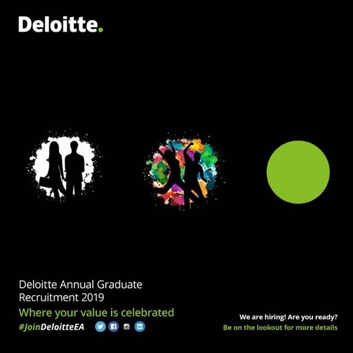 Deloitte East Africa Yearly Graduate Recruitment 2019 for young Graduates.