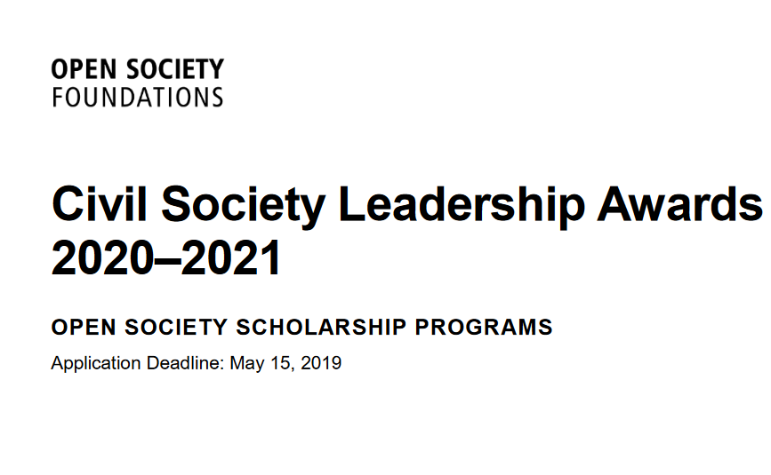 Civil Society Management Awards 2020/2021 for Social Modification Agents (Totally Moneyed Master's Degree Scholarships)