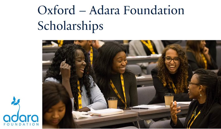 Oxford– Adara Structure Scholarship Program 2019/2020 for female MBA Prospects (Completely Moneyed)