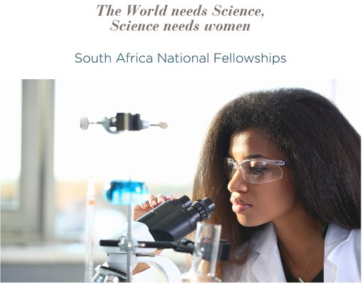 L'Oreal-UNESCO for Ladies in Science South African National Program 2019