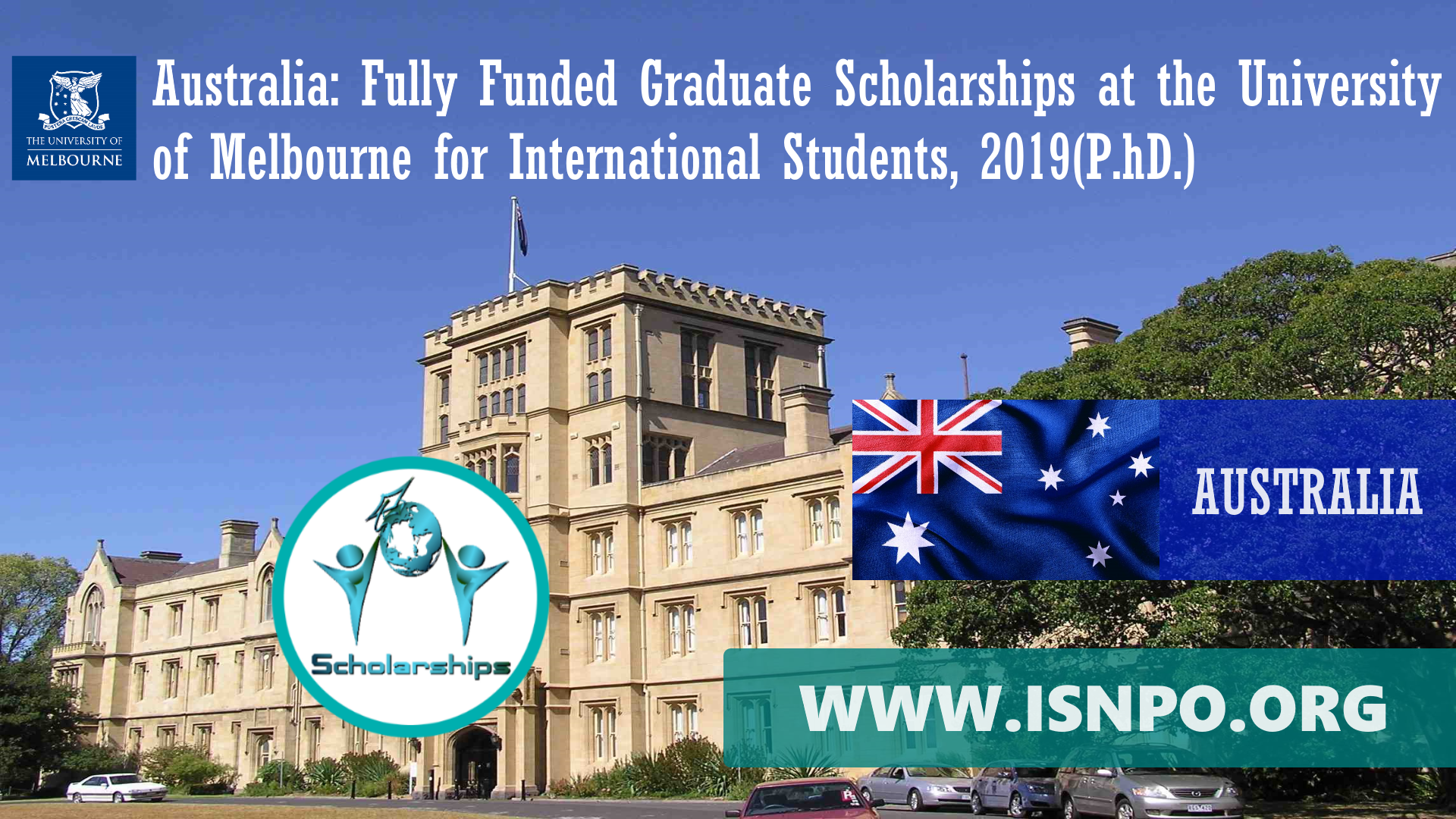 Australia: Completely Moneyed Graduate Scholarships at the University of Melbourne for International Trainees, 2019