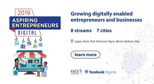 Facebook Nigeria/FATE Structure 2019 Aspiring Business Owners Digital Program for young Nigerian Business owners