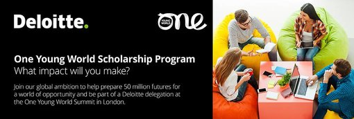 Deloitte/One Young World Scholarship 2019 (Totally Moneyed to participate in the One Young World Top in London, UK)