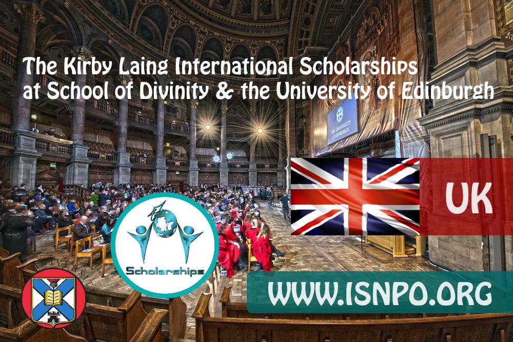 The Kirby Laing International Scholarships at School of Divinity & & the University of Edinburgh