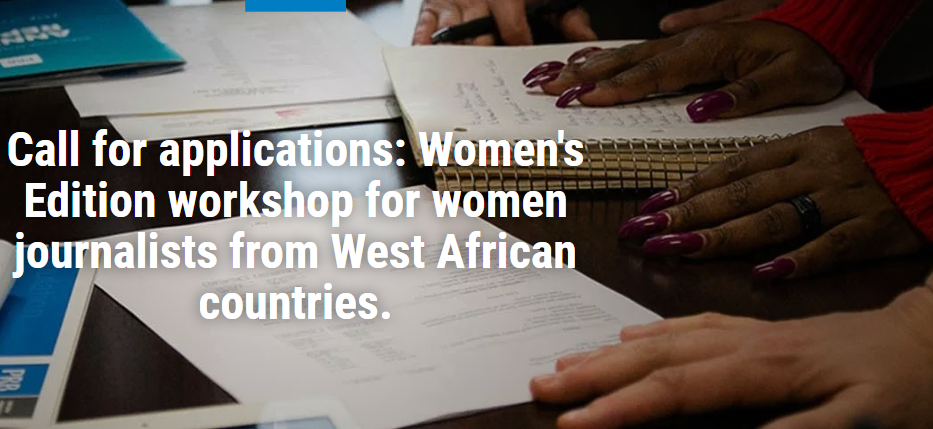 Population Recommendation Bureau Women's Edition Workshop 2019 for Reporters from West Africa (Fully-funded)