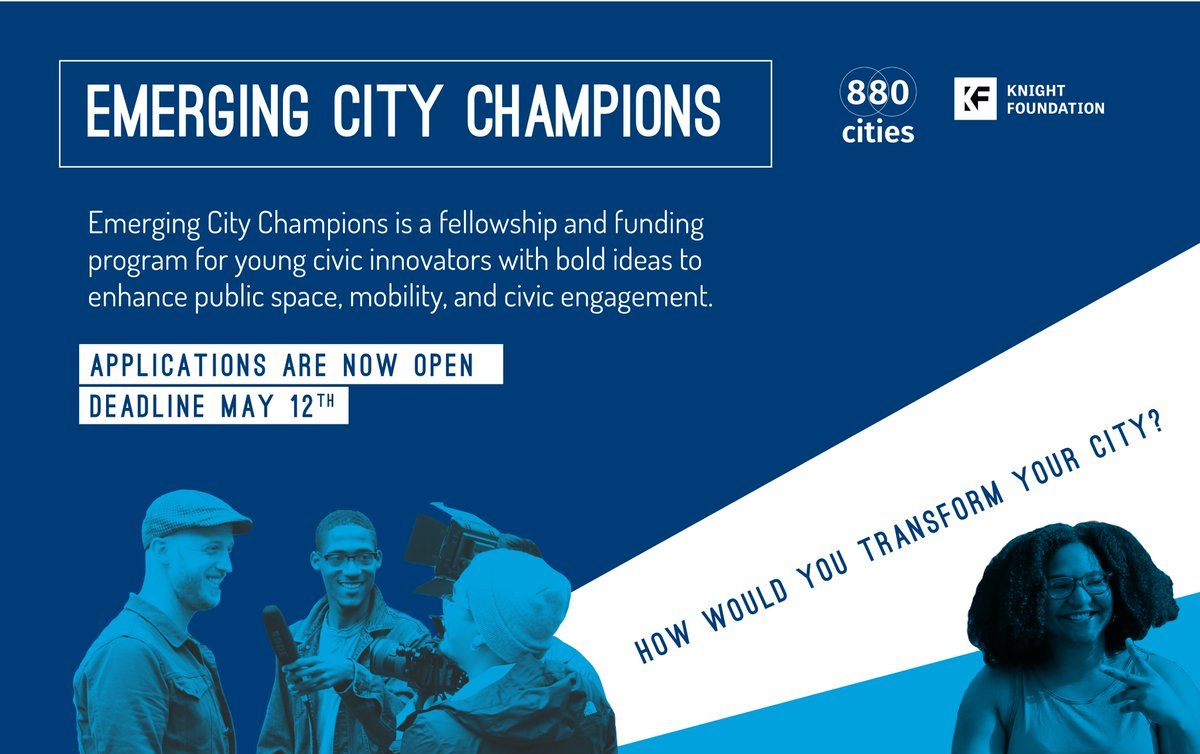 Emerging City Champions Fellowship and Financing Program 2019 for Young Civic Innovators (Fully-funded to Toronto + $5,000)