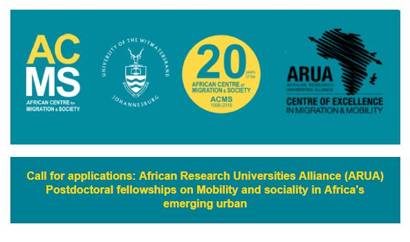 African Research Study Universities Alliance (ARUA) Post-doctoral Fellowship 2019