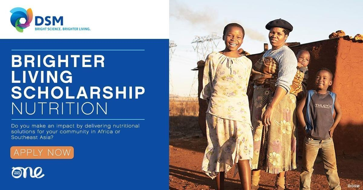 DSM: Better Living Scholarship to participate in the One Young Top 2019 in London (Fully-funded)