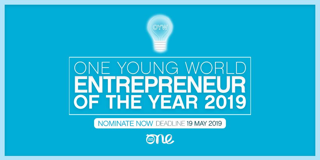 One Young World's Business owner of the Year Award 2019 (Fully-funded to OYW Top in London, UK)