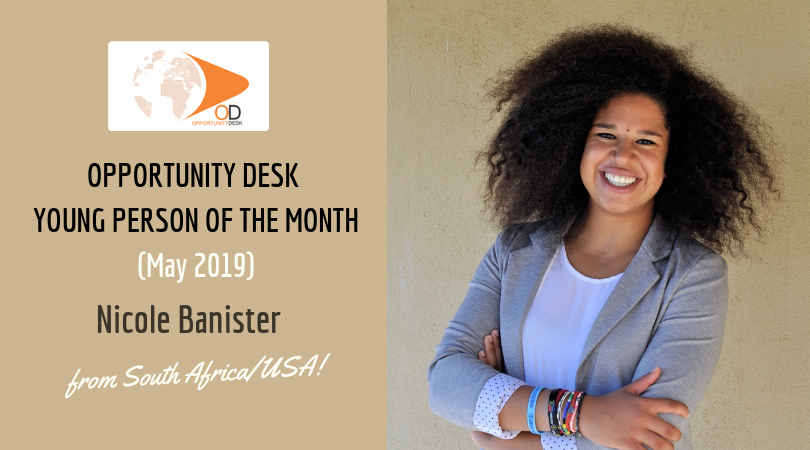 Nicole Banister from South Africa/ U.S.A. is OD Young Adult of the Month for May 2019!
