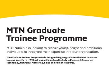 MTN Namibia Graduate Student Program 2019 for young Namibians