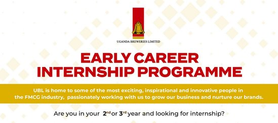 Uganda Breweries Limited (UBL) Early Profession Internship Program 2019/2020 for young Ugandans