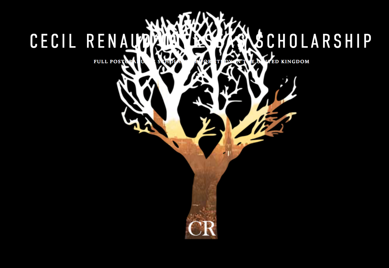 Cecil Renaud Overseas Scholarships 2020 for South Africans to Research Study in the UK