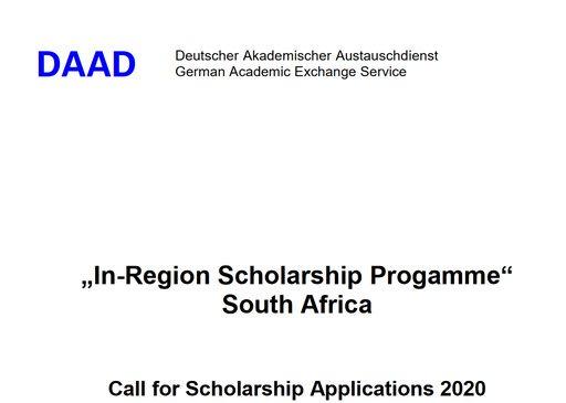DAAD 2020 In-Region Scholarships Program in South Africa