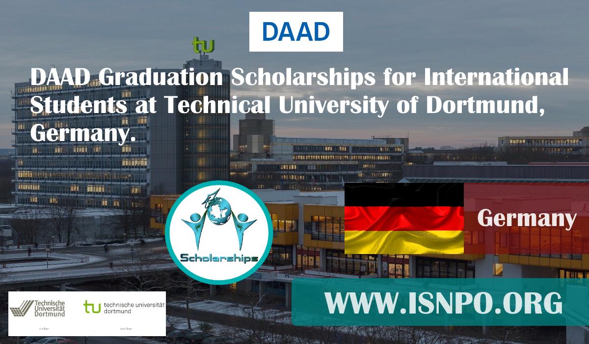 DAAD Graduation Scholarships for International Trainees at Technical University of Dortmund, Germany