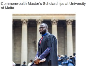 University of Malta Commonwealth Master's Scholarships 2019/2020 for research study in Malta