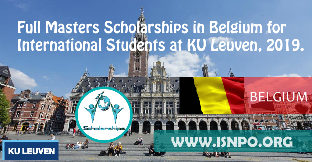 Complete Masters Scholarships in Belgium for International Trainees at KU Leuven, 2019